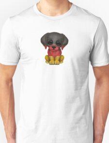 Cute Patriotic German Flag Puppy Dog Unisex T-Shirt