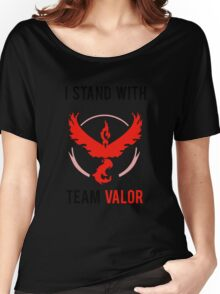 I Stand With Team Valor Women's Relaxed Fit T-Shirt