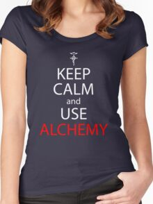 Keep Calm And Use Alchemy Anime Manga Shirt Women's Fitted Scoop T-Shirt