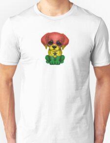 Cute Patriotic Ghana Flag Puppy Dog Unisex T-Shirt