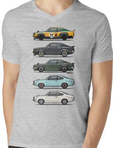 Stack of Mazda Savanna GT RX-3 Coupes Mens V-Neck T-Shirt