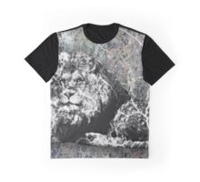 Marble Lion Statue Graphic T-Shirt