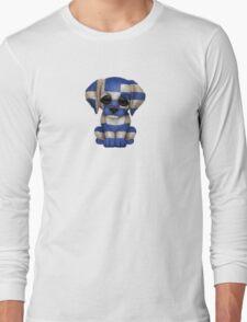 Cute Patriotic Greek Flag Puppy Dog Long Sleeve T-Shirt