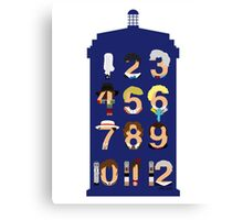 The Number Who Canvas Print