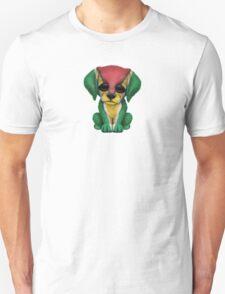 Cute Patriotic Guyanese Flag Puppy Dog Unisex T-Shirt