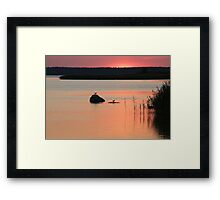 The Silence after Sunset Framed Print