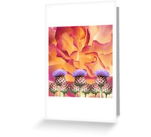 The story of the thistle and the rose Greeting Card