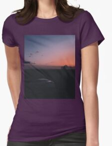 Sunset photo Womens Fitted T-Shirt