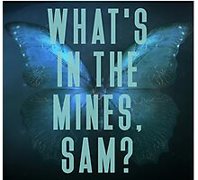 What's in the mines, Sam? - Until Dawn Photographic Print