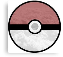 Pokemon Pokeball Clouds Canvas Print