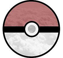 Pokemon Pokeball Clouds Photographic Print