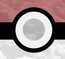 Pokemon Pokeball Clouds Sticker