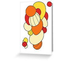 Warm orbs Greeting Card