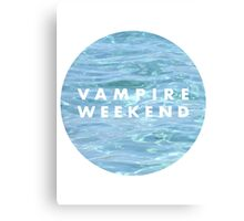 Water Vampire Weekend Logo Canvas Print