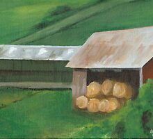 Vermont, red barn by Barbara Weir