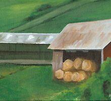 Vermont, red barn by Barbara Weir