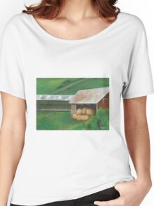 Vermont, red barn Women's Relaxed Fit T-Shirt