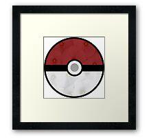 Pokemon Pokeball Flower Framed Print