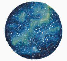 Watercolor Galaxy Kids Tee