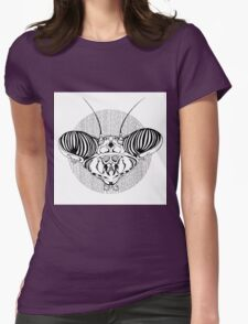 Mantis Head Womens Fitted T-Shirt