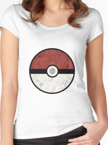 Pokemon Pokeball Roses Women's Fitted Scoop T-Shirt