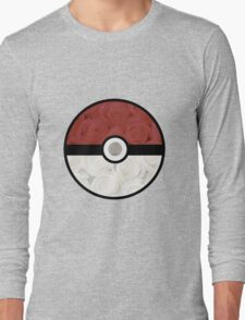 Pokemon Pokeball Roses Long Sleeve T-Shirt