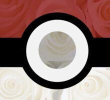 Pokemon Pokeball Roses Sticker