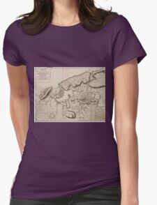 Vintage Map of Havana Cuba (1762) 2 Womens Fitted T-Shirt