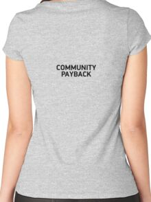 community payback Women's Fitted Scoop T-Shirt