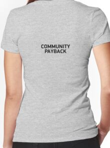 community payback Women's Fitted V-Neck T-Shirt