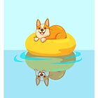 Summer Corgi by VictoriaHamre