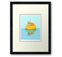 Summer Corgi Framed Print