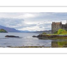 Panorama of Eilean Donan Castle and Loch Sticker