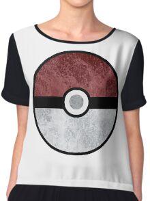 Pokemon Pokeball Water Chiffon Top
