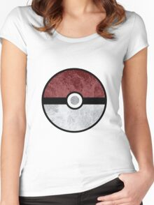 Pokemon Pokeball Water Women's Fitted Scoop T-Shirt