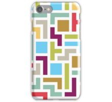 Tetris with scandinavian colors iPhone Case/Skin