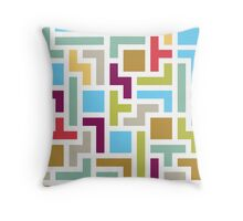Tetris with scandinavian colors Throw Pillow