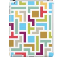 Tetris with scandinavian colors iPad Case/Skin