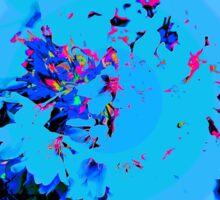 Abstract Spring Blossom, Blue. Sticker