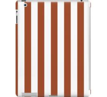 Potters Clay and White Large Vertical Cabana Tent Stripe iPad Case/Skin