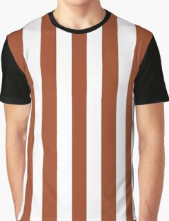 Potters Clay and White Large Vertical Cabana Tent Stripe Graphic T-Shirt