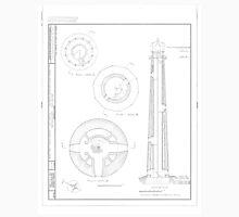 Absecon Lighthouse Blueprint Unisex T-Shirt