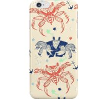 Nautical Formal Crabs iPhone Case/Skin