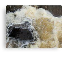 Water Over The Weir, Cataract Gorge, Launceston, Tasmania, australia. Canvas Print