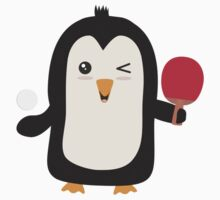 Penguin table tennis   Kids Tee