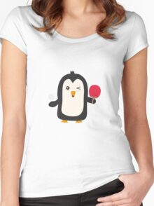 Penguin table tennis   Women's Fitted Scoop T-Shirt