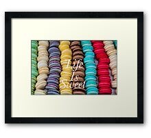 Macarons Life Is Sweet #1 Framed Print