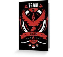 Team Valor Greeting Card