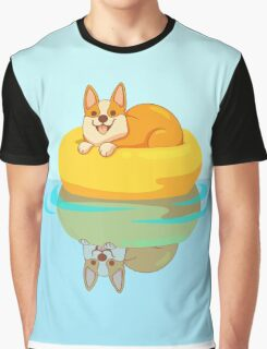 Summer Corgi Graphic T-Shirt