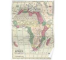 Vintage Map of Africa (1872) Poster